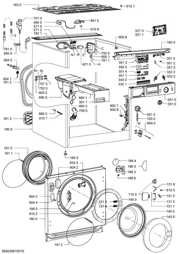 parts  awo  c 0714 washing machine spares